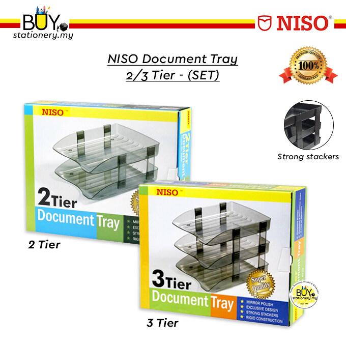 NISO Document Tray 2/3 Tier - (SET)