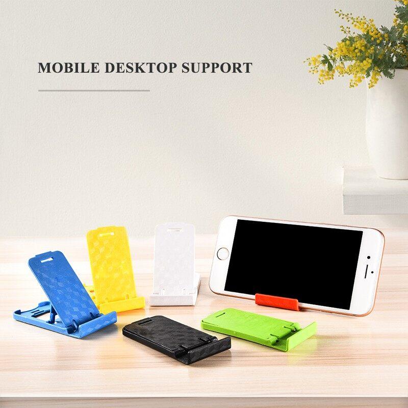 Universal Folding Table Cell Phone Support Plastic Holder Desktop Stand Color Random