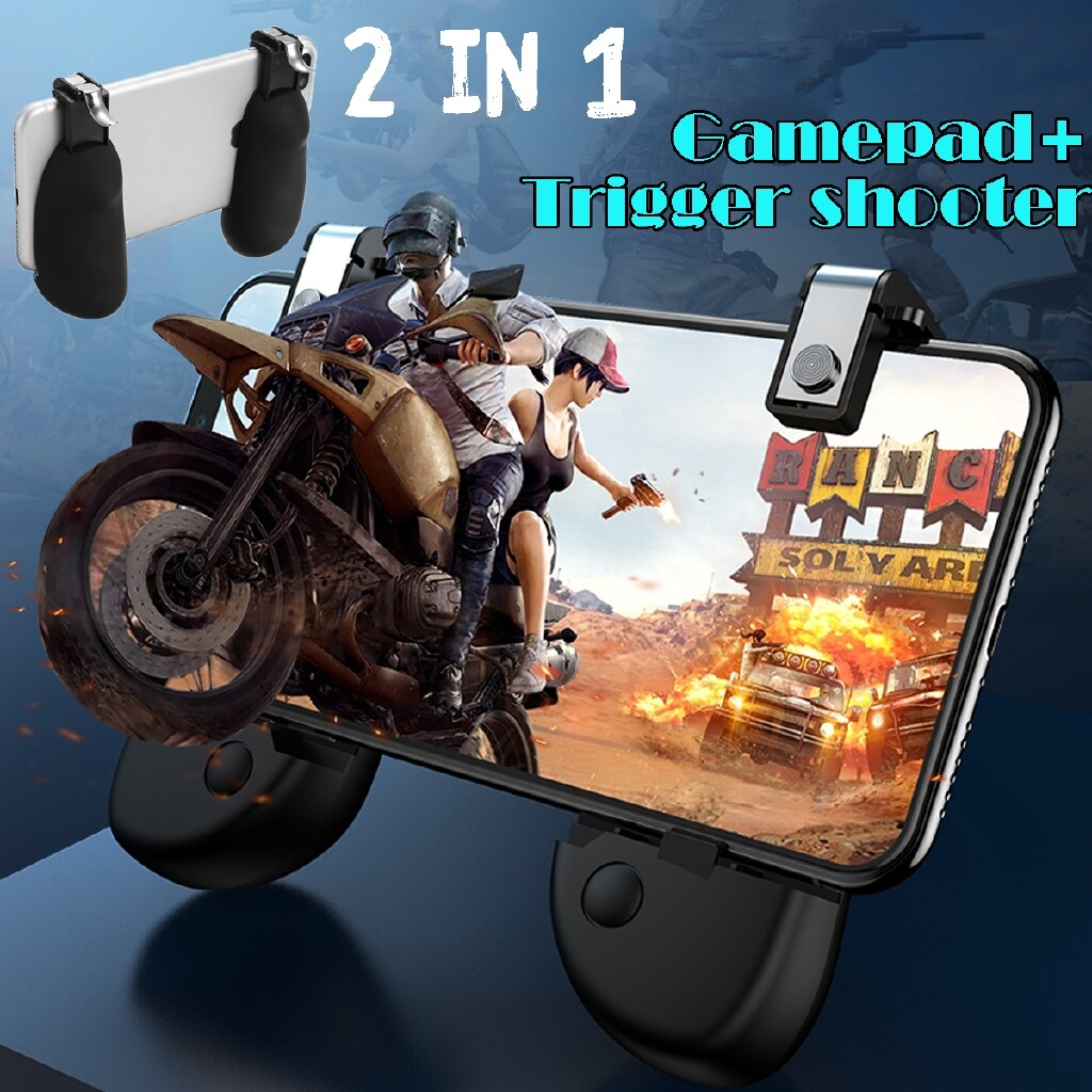 Phone Holder & Stand - Mobile Gaming Gamepad Controller+ Trigger L1R1 Fire Button SET For PUBG FORTNITE - Cases Covers