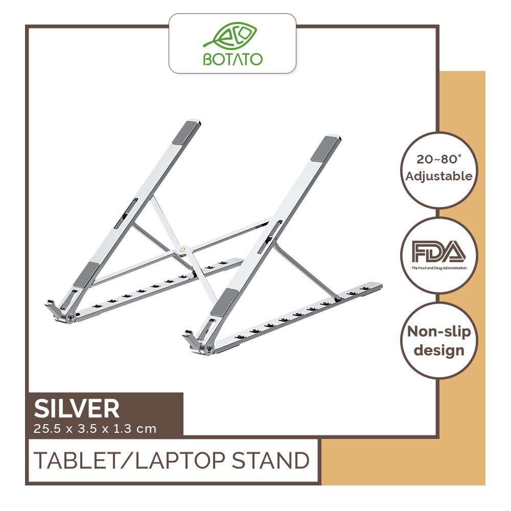 ? Eco.Botato LAPTOP STAND Aluminum Foldable Portable Adjustable Healthy Posture Holder Bracket Cooling Lift Tablet Notebook iPad Macbook Vention Slim Lightweight Adhesive