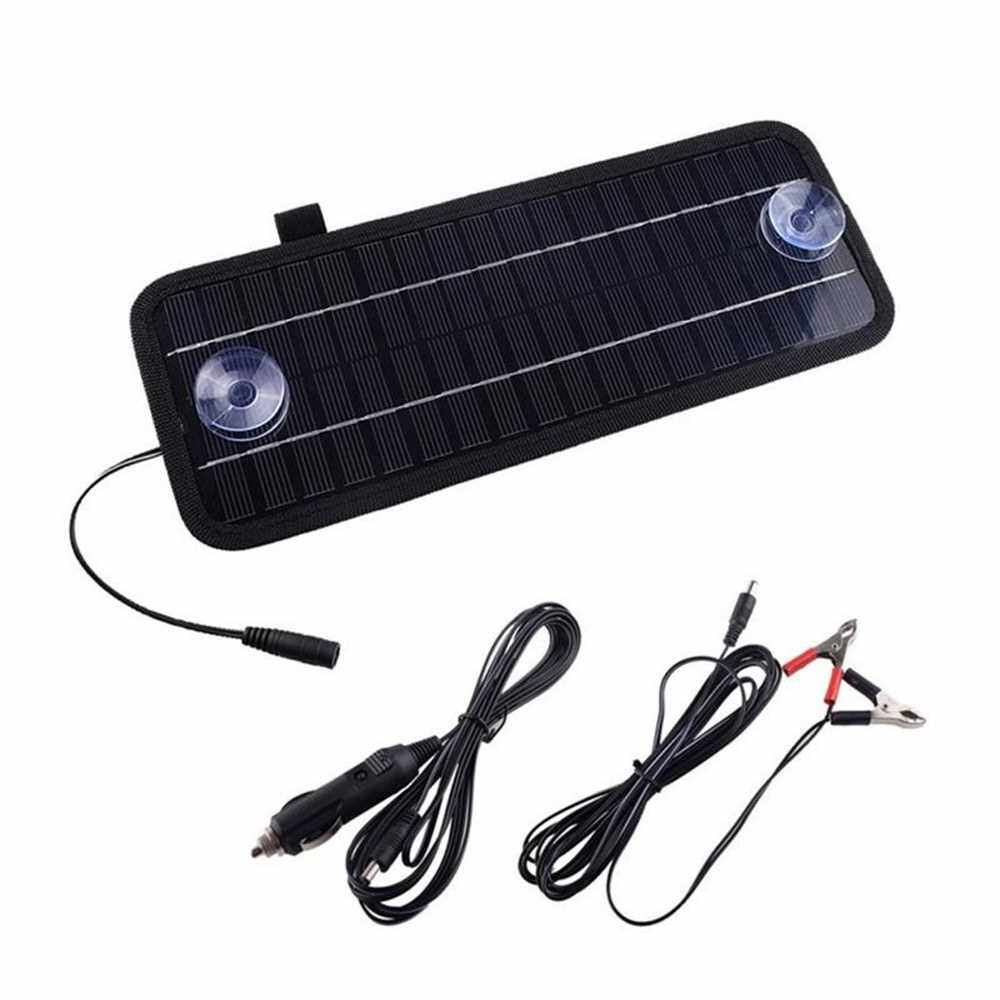 Best Selling 12V 4.5W Portable Power Solar Panel Backup for Car Boat with Alligator Clip Adapter (Standard)
