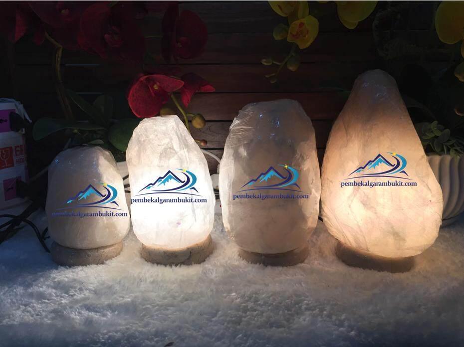 White Himalayan Salt Crystal Lamp Lampu Garam Bukit Putih Lampu Garam Kristal