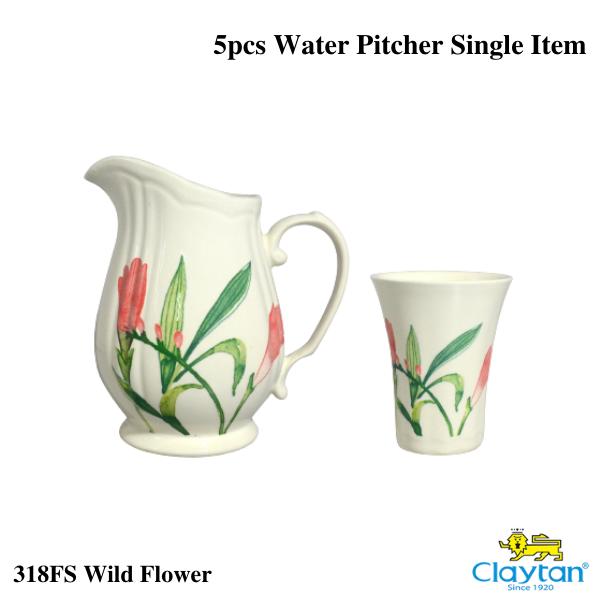Claytan Tableware-5pc Water Pitcher set-Wild Flower