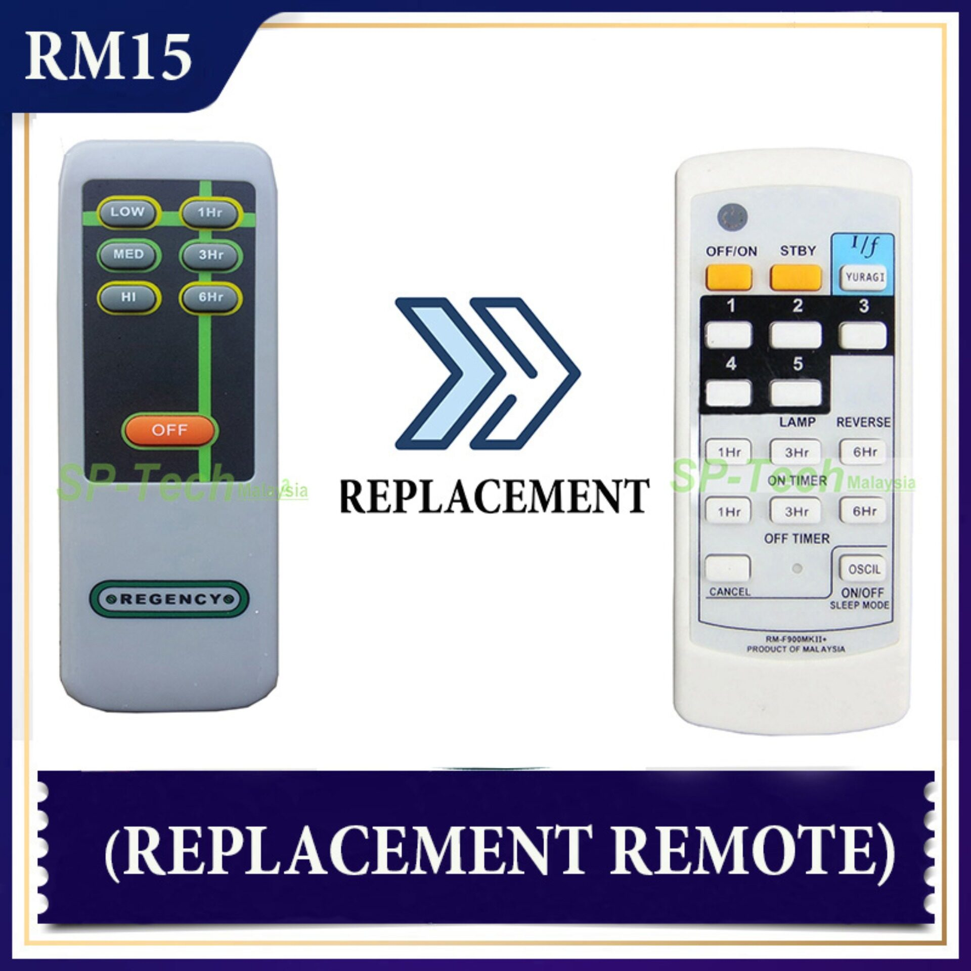 REGENCY FAN REMOTE CONTROL (REPLACEMENT)