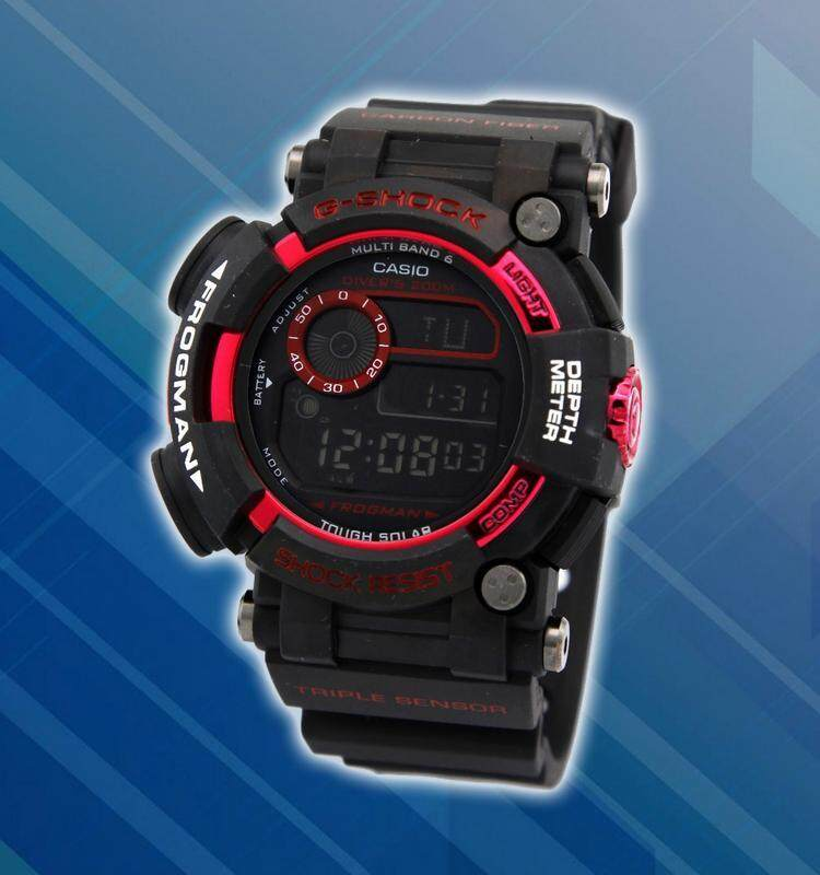 Special Promotion New Sport Casio G-SHOCK_Frogman Digital Time Display Fashion Casual Watch For Men Ready Stock 100% Mineral Glass New Design Full Set All Colour Available