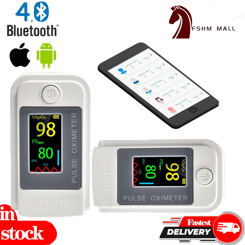 (Ready Stock)Lk89 White Tft Oximeter Fingertip Oximeter Saturation Pulse Rate Monitoring Finger Clip Oximeter Blood Oxygen Saturation Detector