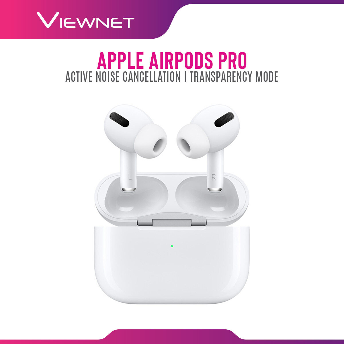(Ready Stock) Apple AirPods Pro Wireless Earbuds with Charging Case & Active Noise Cancellation MWP22ZA/A - Original Apple Malaysia Warranty 1 Year