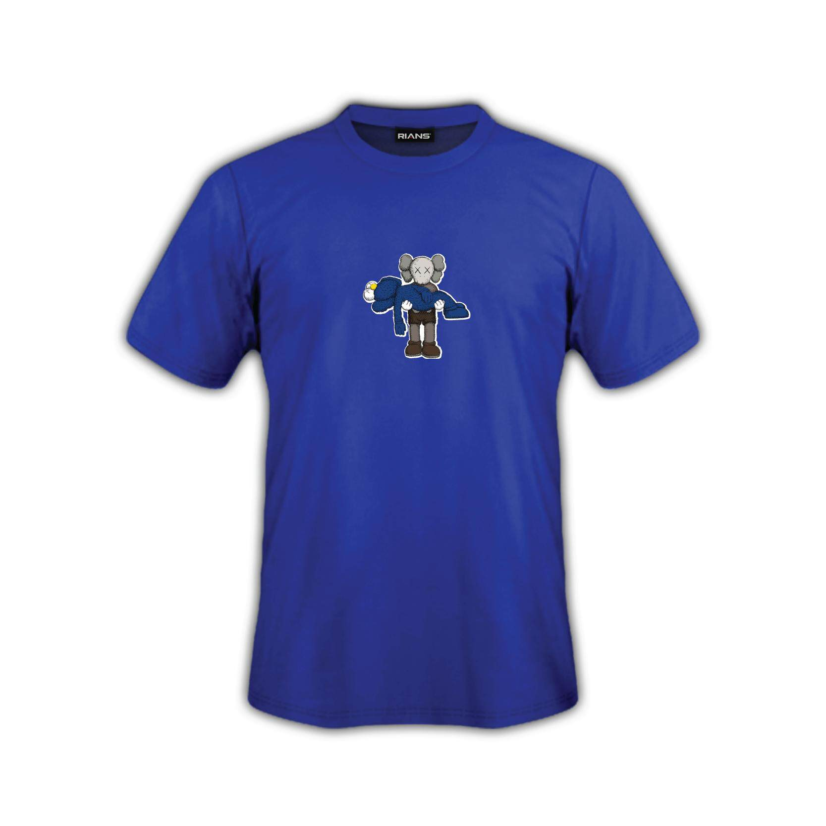 T-Shirt KAWS Dukung Girlfriend Viral 4 Colour 100% Cotton Baju Tshirt Black White Hitam Putih Bossku