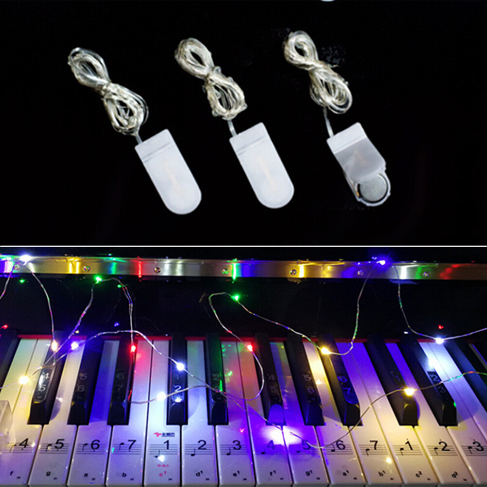 1M 10LED Button Battery Copper Wire String Light Fairy Lamp Wedding Party Festivals Decoration
