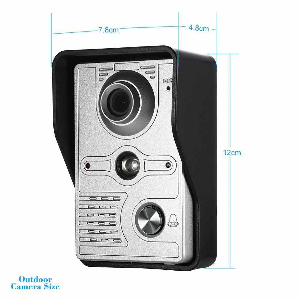 OWSOO 7 inch Wired Video Doorbell Indoor Monitor with IR-CUT Rainproof Outdoor Camera Visual Intercom Two-way Audio Remote Unlock Video Door Phone (Uk)
