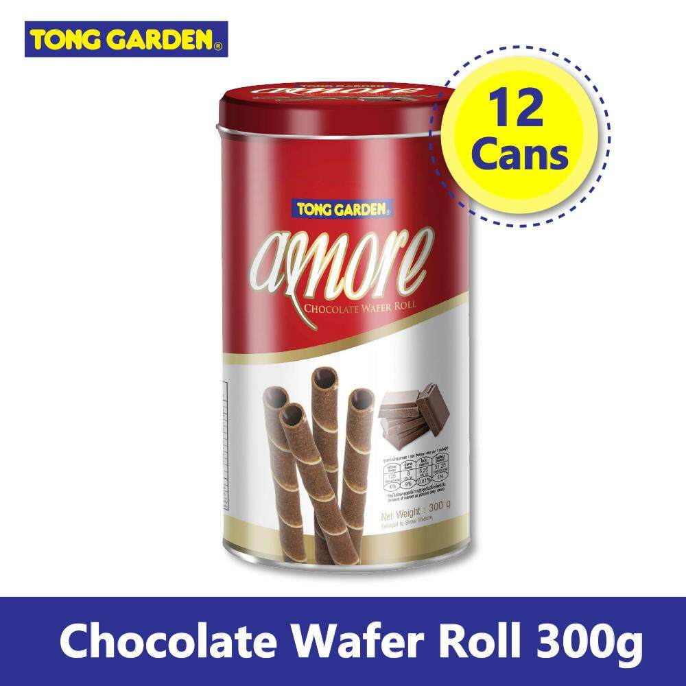AMORE Chocolate Wafer Roll 300g x 12 [Bundle Pack]