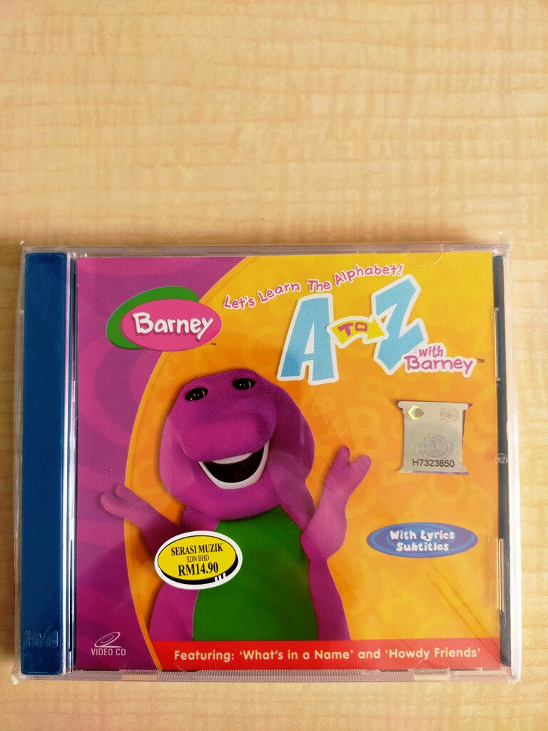 Barney The Dinosaurs : Let\'s Learn The Alphabet A To Z With Barney VCD Children Educational Program