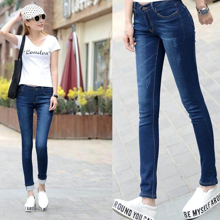 (PreOrder14 Days  JYS Fashion Korean Style Women Jeans Pant Collection-521963col521-963--Dark Blue-34