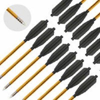 """Aluminium Crossbow Bolts Arrows 6.5"""" Steel Tips Arrows for 50-80lbs Crossbow"""