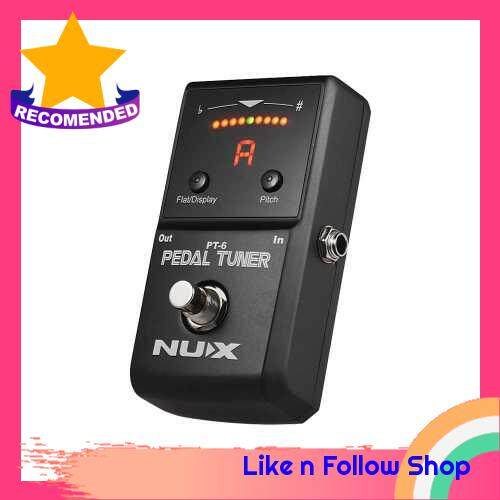 NUX PT-6 Chromatic Tuner Pedal Supports Flat & A4 Tuning LED Display Full Metal Shell