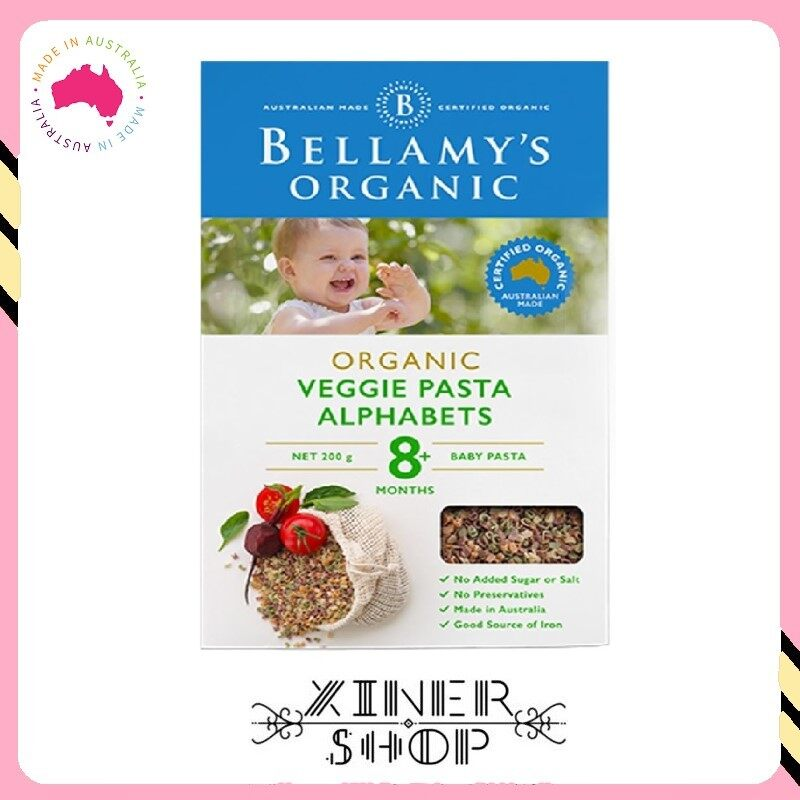 [Pre Order] Bellamy 's Organic Vegie Alphabets 8+ ( 200g ) (Made in Australia)
