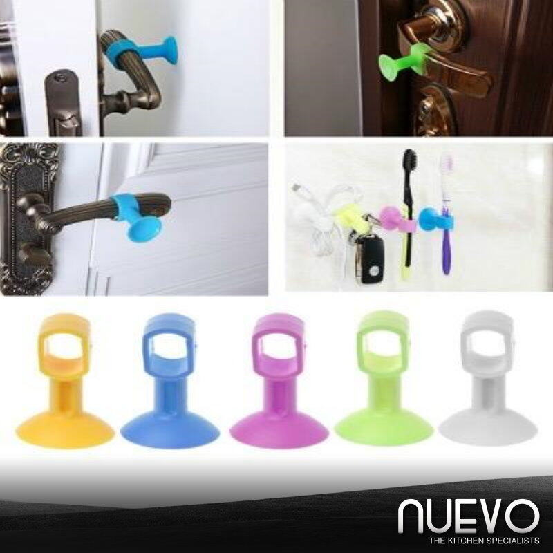 Silicone Anti-Collision Door Stopper with Perforation Free and Mute,Suction Door Knob Protective Your Door or Wall
