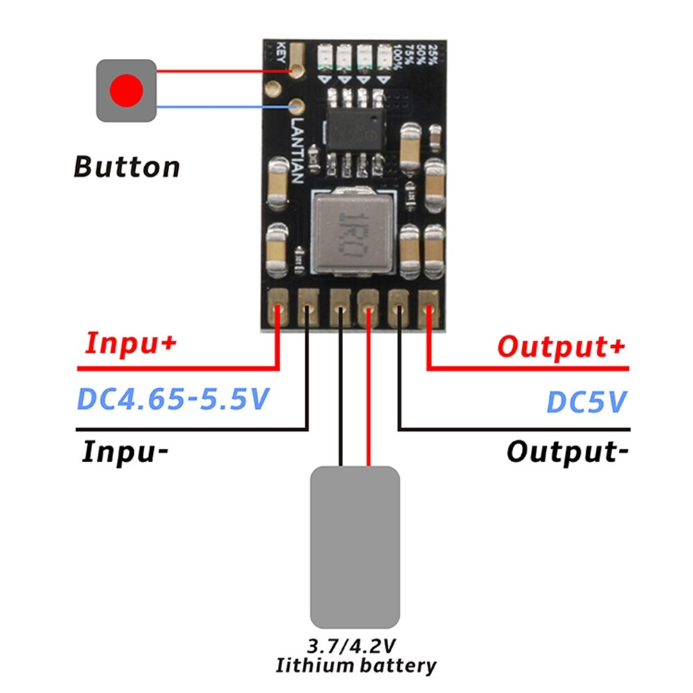 DIY Tools - BS301CV 4 in 1 2.1A 4.2V Charge Discharger DC-DC Boost Converter Module Board - Home Improvement
