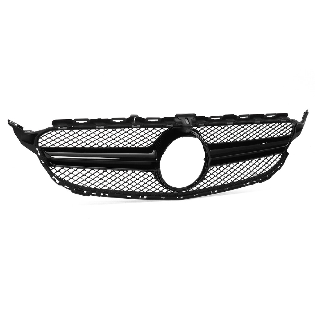 Automotive Tools & Equipment - Black AMG C63 Style Grill Grille W/Camera For Mercedes Benz W205 C250 C350 15-18 - Car Replacement Parts