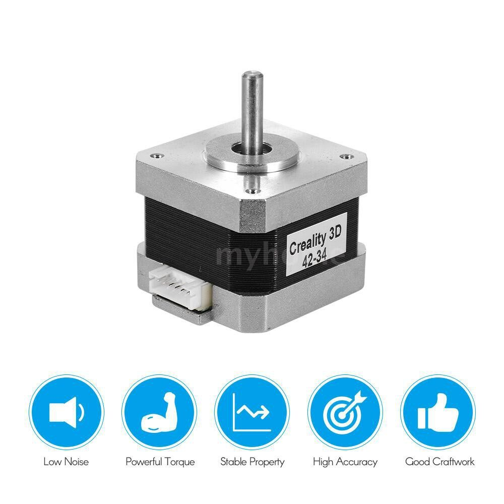 Printers & Projectors - Creality 3D Printer Stepper Stepping Motor 2 Phase 0.8A 1.8 Degree 0.4N.M for 3D Printer DIY CNC - SILVER