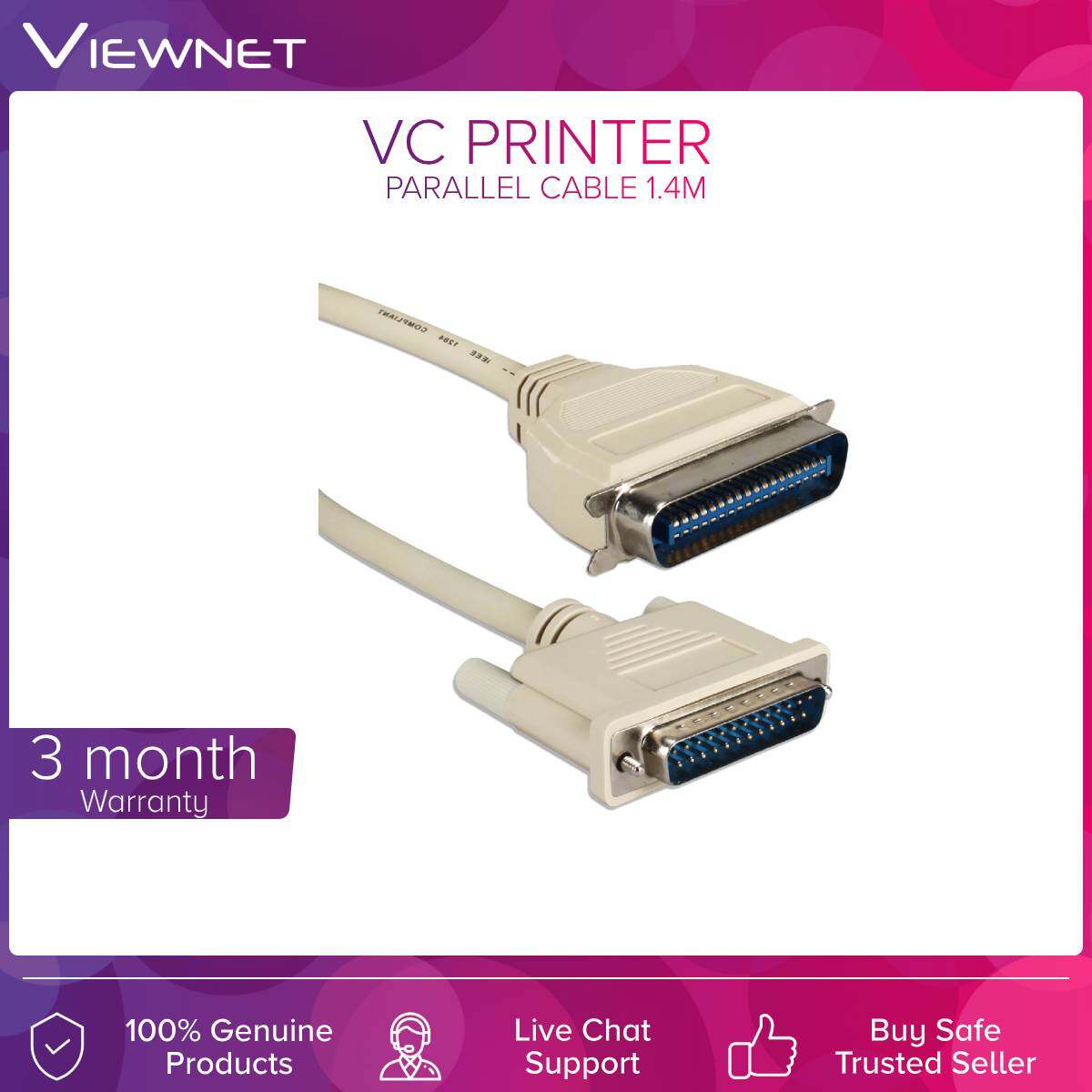 VC Printer Parallel Cable 1.4M