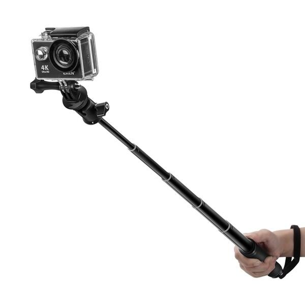 Monopod - BlitzWolf BW-BS0 Selfie Stick Mental Monopod for sport camera with gopro - BLACK