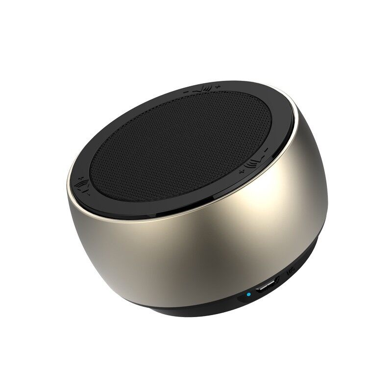 On-Ear Headphones - PORTABLE BLUETOOTH Speaker MINI Stereo Subwoofer TF Card Handsfree Speaker - GREY / GOLD / BLUE / RED / BLACK