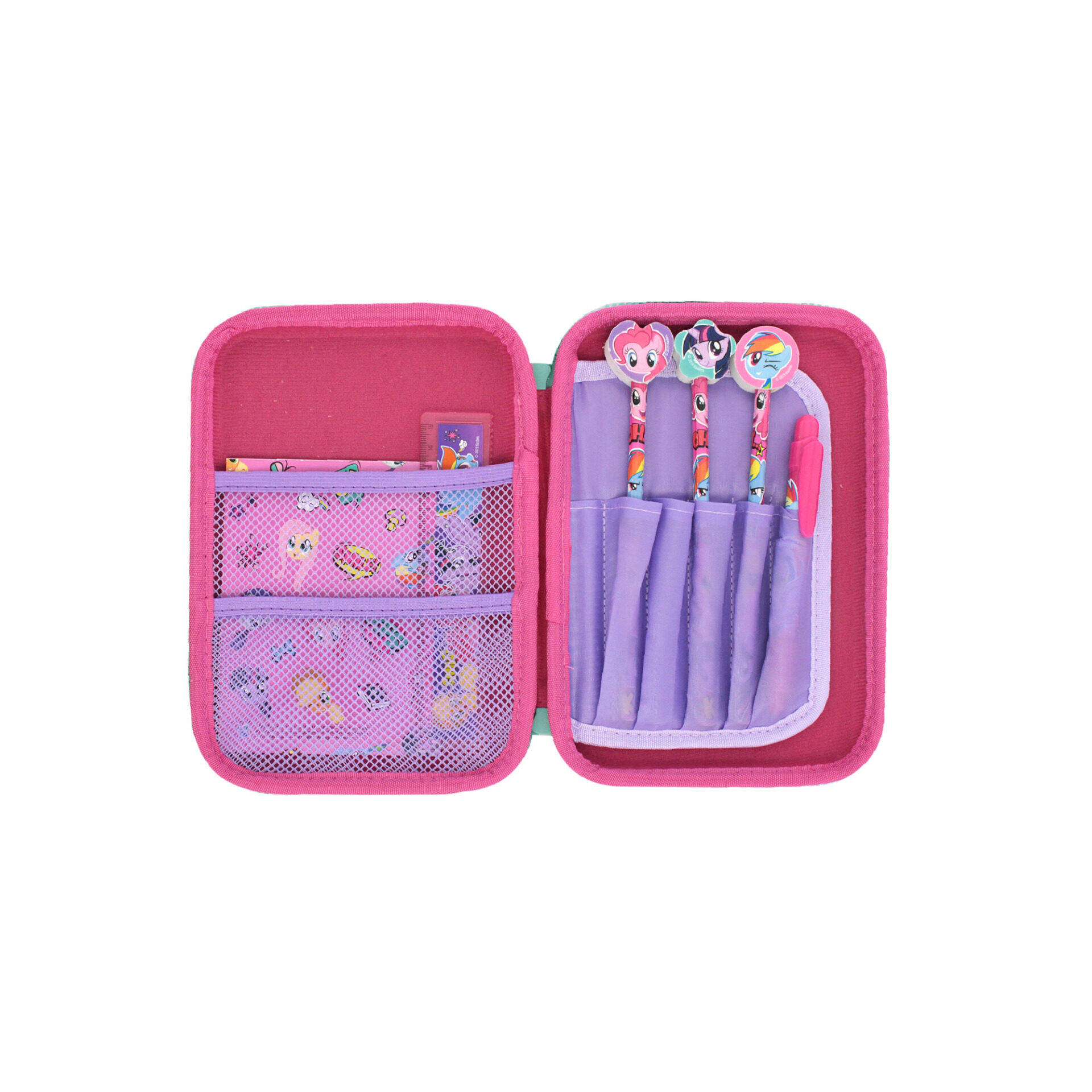 My Little Pony All In 1 Big Stationery Case - 3 Pencils, 1 Mechnical Pencil, Ruler & Mini Notepad