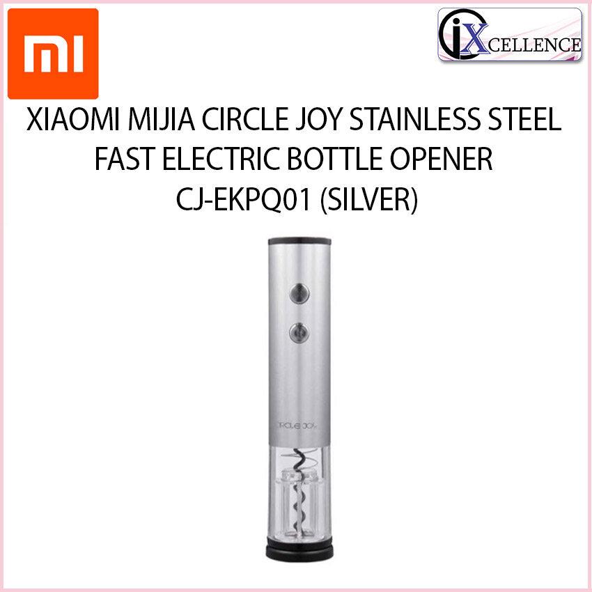 [IX] XIAOMI MIJIA CIRCLE JOY STAINLESS STEEL FAST ELECTRIC BOTTLE OPENER CJ-EKPQ01 (SILVER)