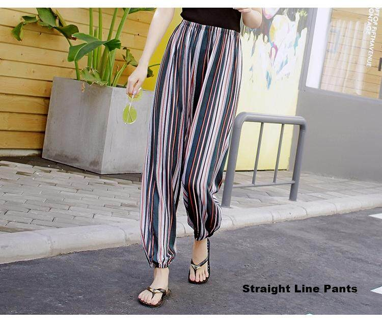 Plus Size Women Stretchable Long Pants Casual Comfortable Loose Long Pants