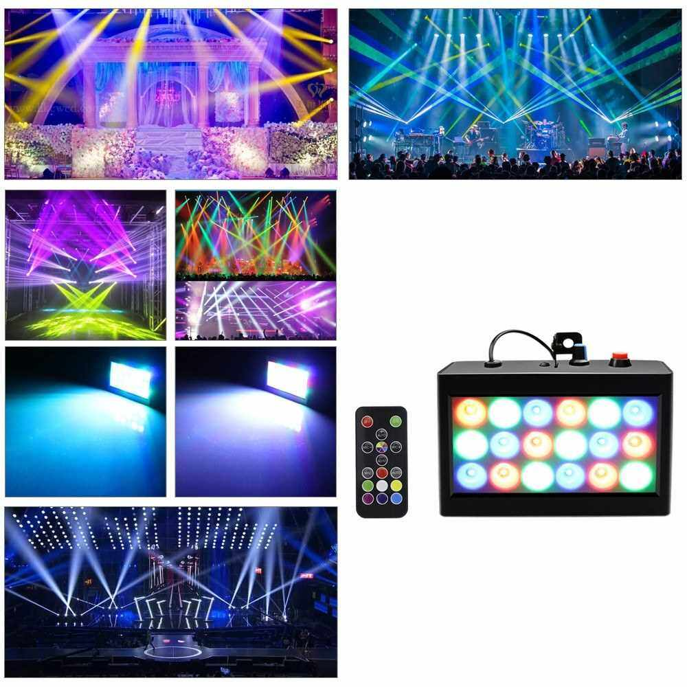 AC90-240V 20W RGB Stage Light Lamp Lighting Fixture Supported Auto-run/ Sound Activated/ Flash Effect Speed Adjustable for Disco KTV Bar Club Pub DJ Show Party Home Entertainment (Beu2)