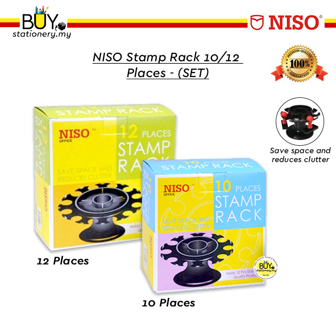 NISO Stamp Rack 10/12 Places - (SET)