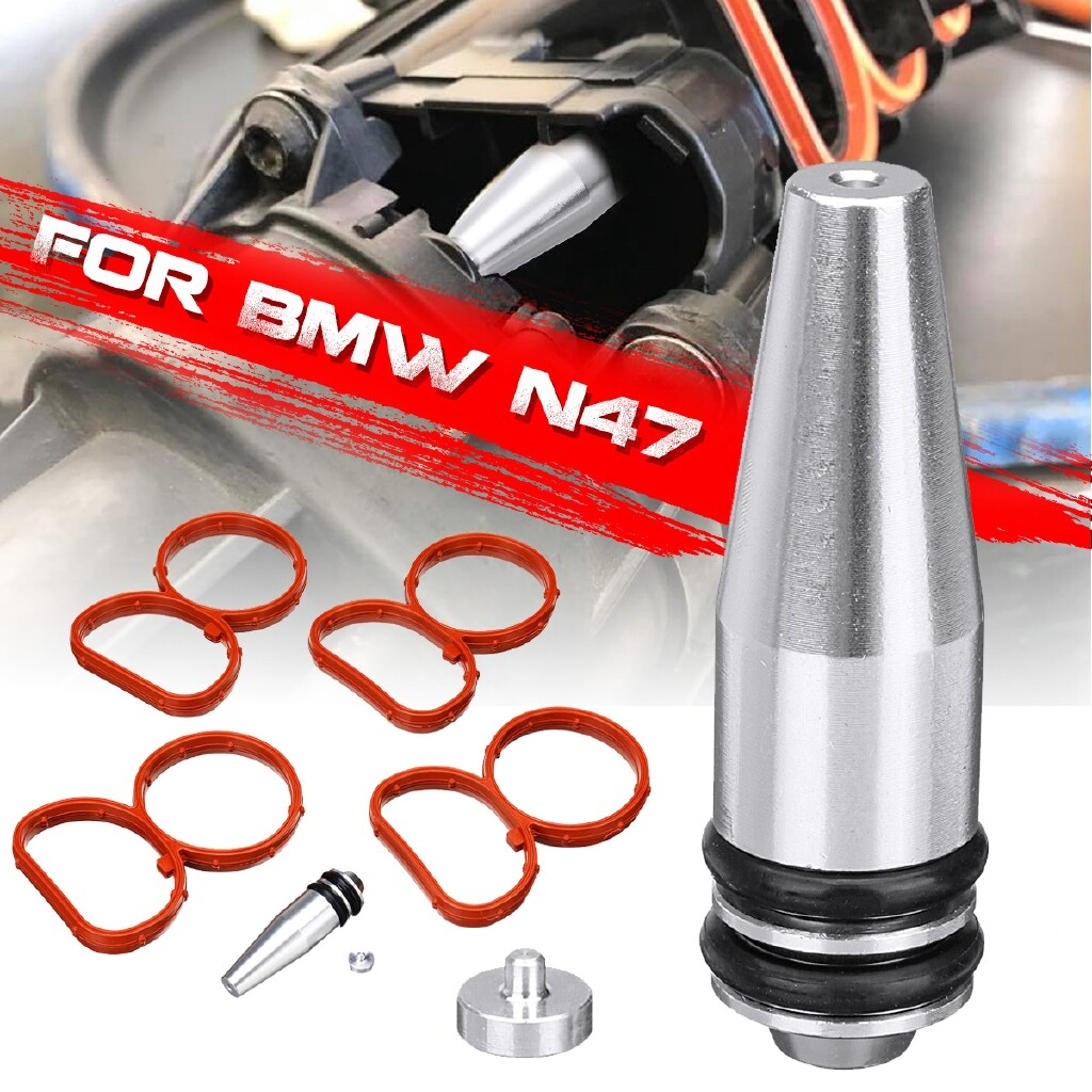 Engine Parts - Swirl Flap Removal (Rod Plug/Bung/Blank) With Manifold Gaskets For BMW N47 2.0D - Car Replacement