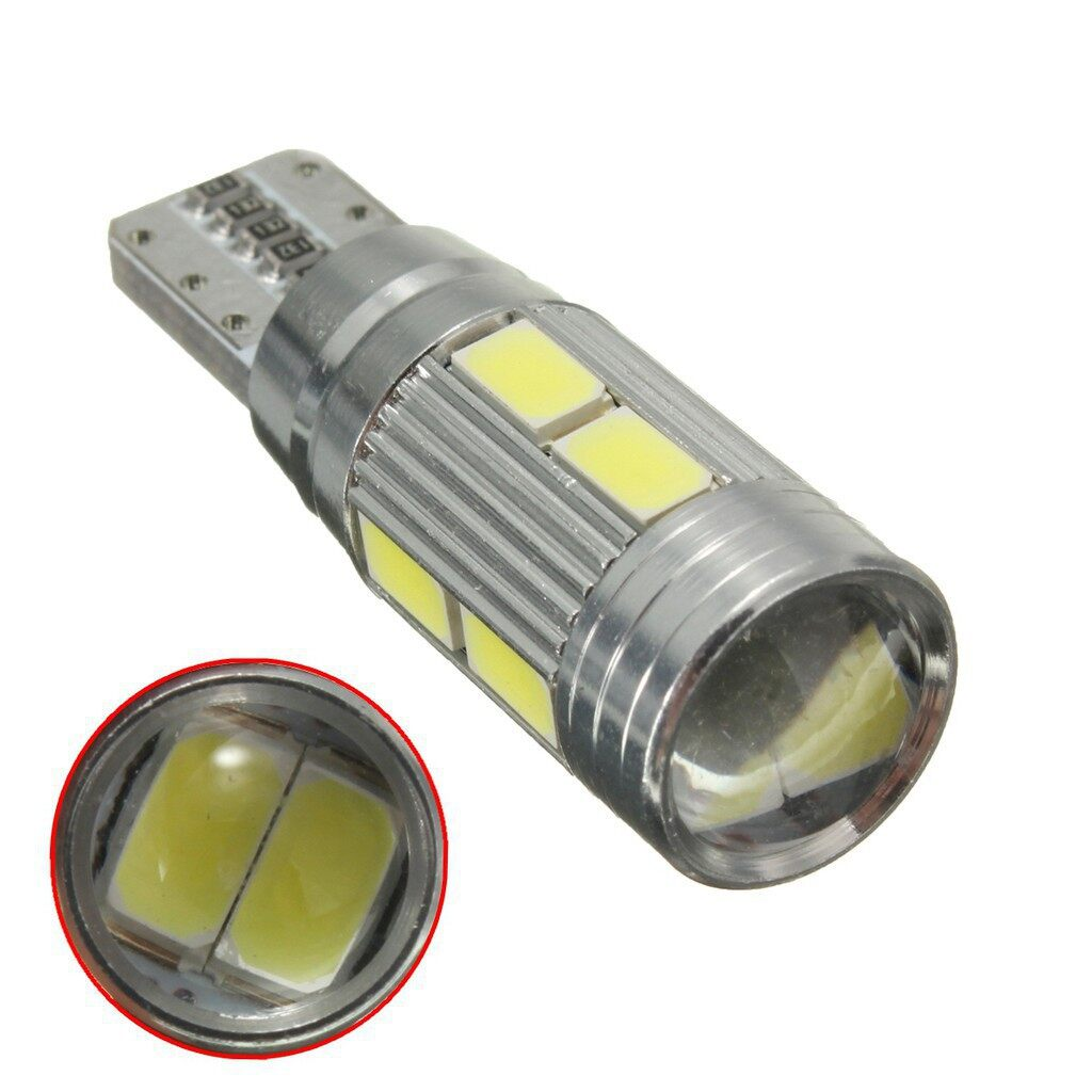 Car Lights - 2X CANBUS T10 501 194 W5W 5630 LED 10 SMD CAR SIDE WEDGE LIGHT LAMP - Replacement Parts