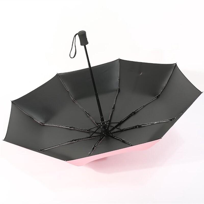 Solid Color Umbrella Folding Automatic Umbrella Windproof Travel Rain Sun Umbrellas Rain Women - NAVY BLUE / PINK / YELLOW / ORANGE / CYAN / WHITE / PURPLE / BLUE