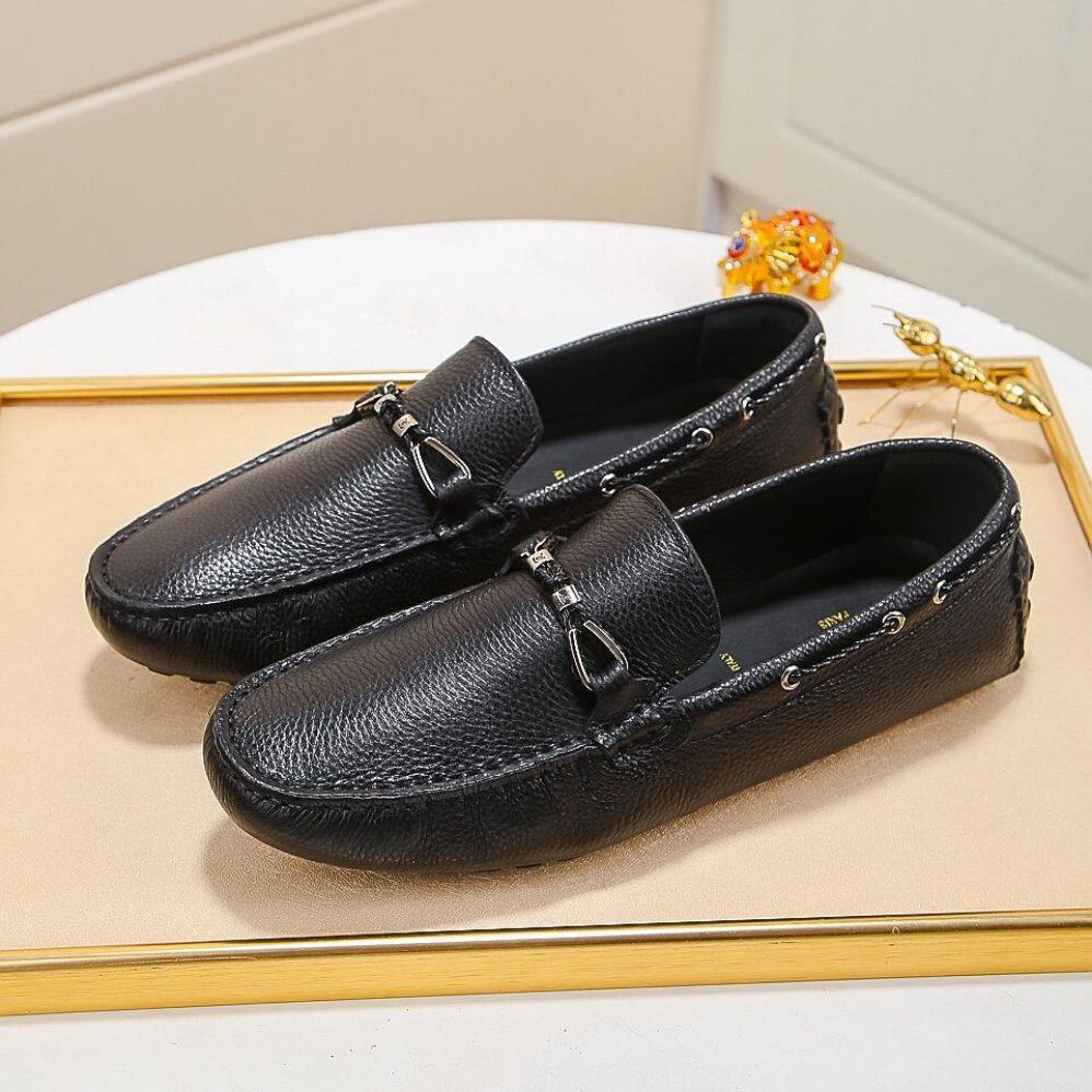 LV2020 new men's shoes, driving shoes in calfskin, lightweight office shoes, international brand shoes