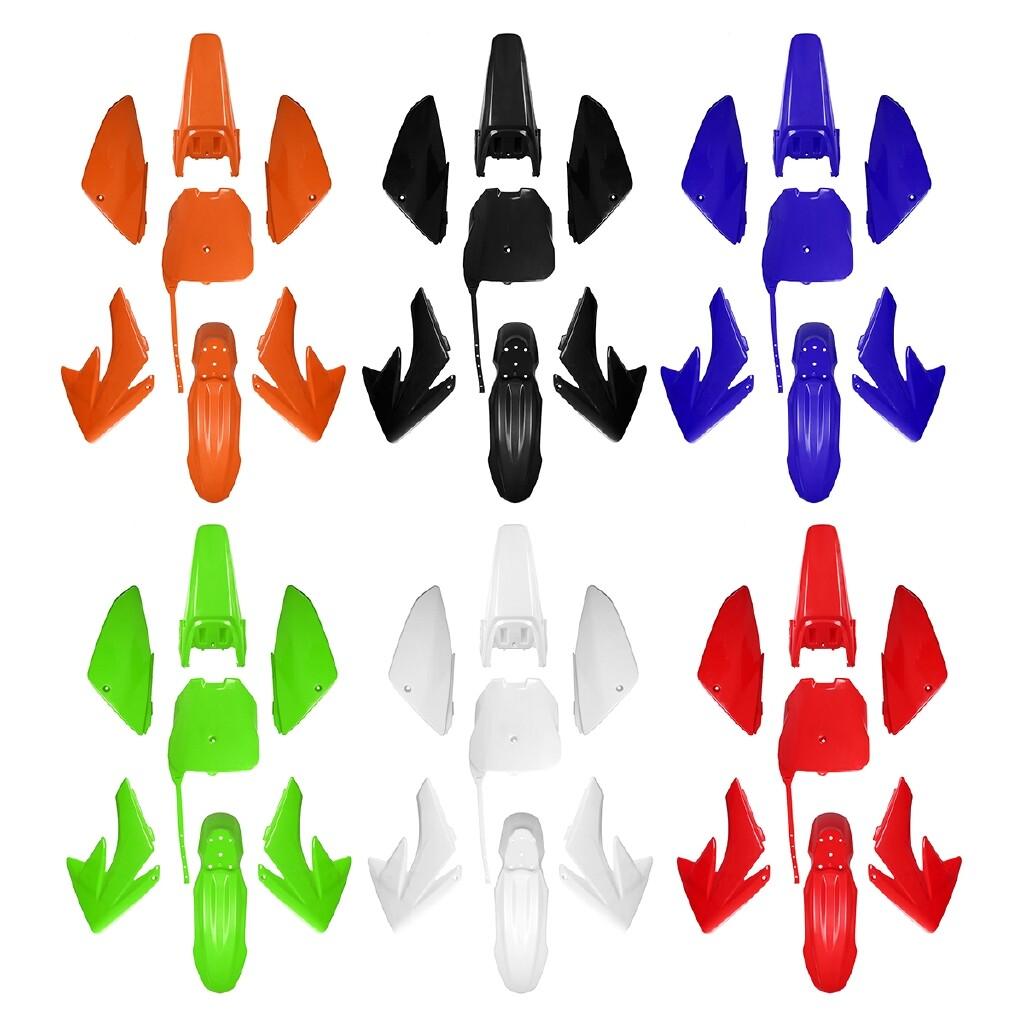 Moto Accessories - ABS Fender Fairing SET For CRF70 Style Pit Bike 125cc 140cc 160cc PITBIKE - ORANGE / BLUE / RED / GREEN / BLACK / WHITE