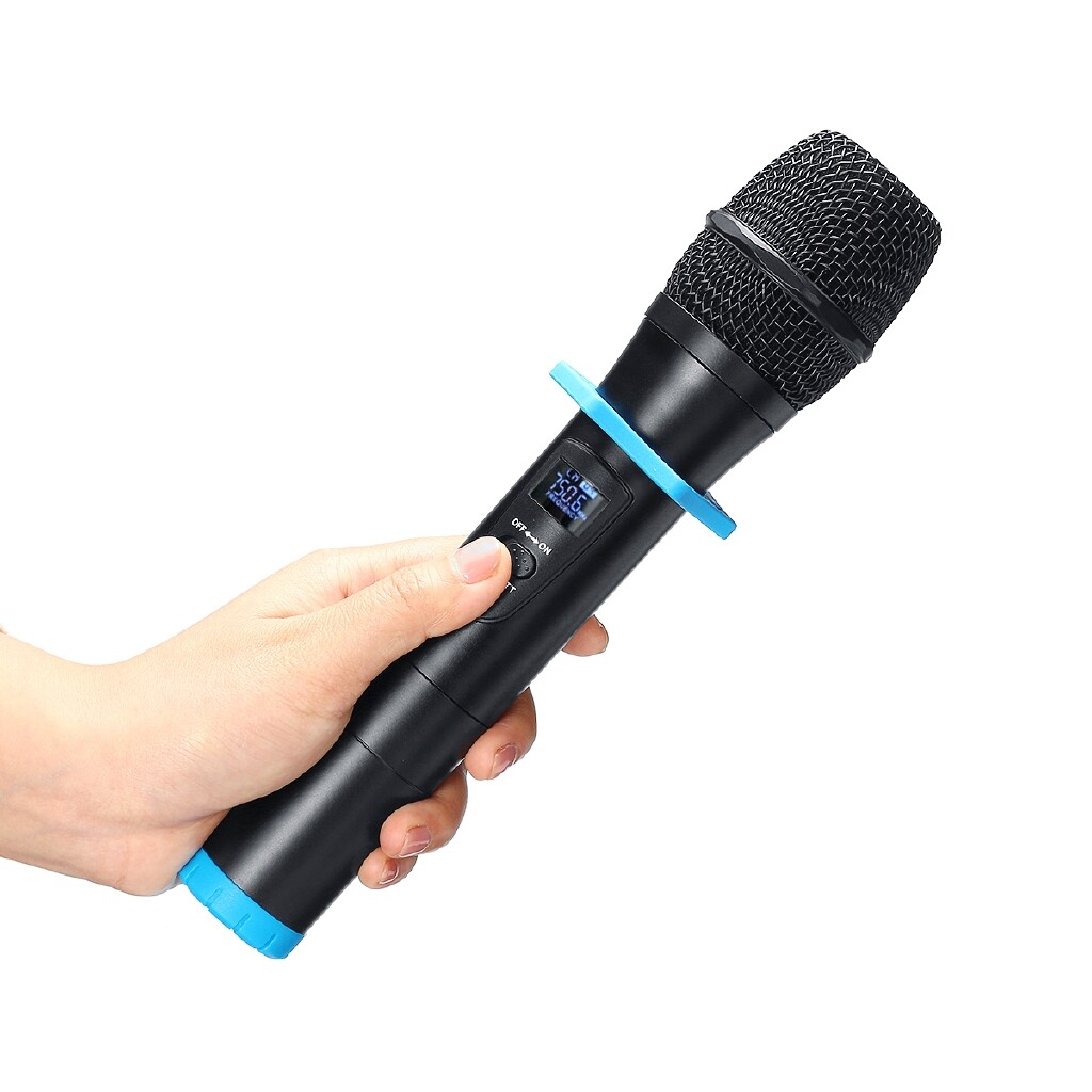Microphones - UHF Dual WIRELESS Microphone System+LED Display Receiver Handheld - Audio