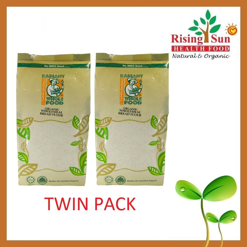 Radiant Organic Wholemeal Bread Flour - Twin Pack