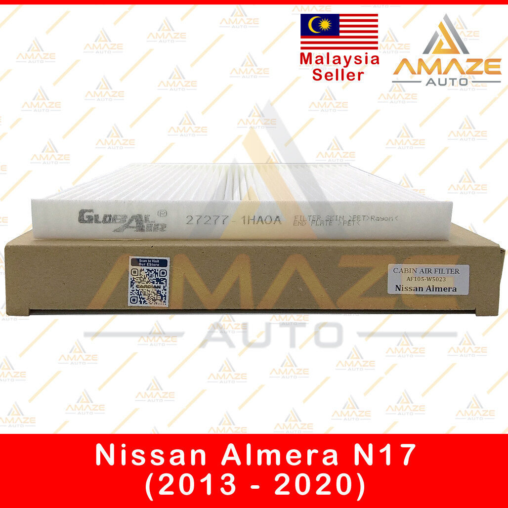 Air-Cond Cabin Filter for Nissan Almera N17 (2013 - 2020) (Equal to 27277-1HAOA)