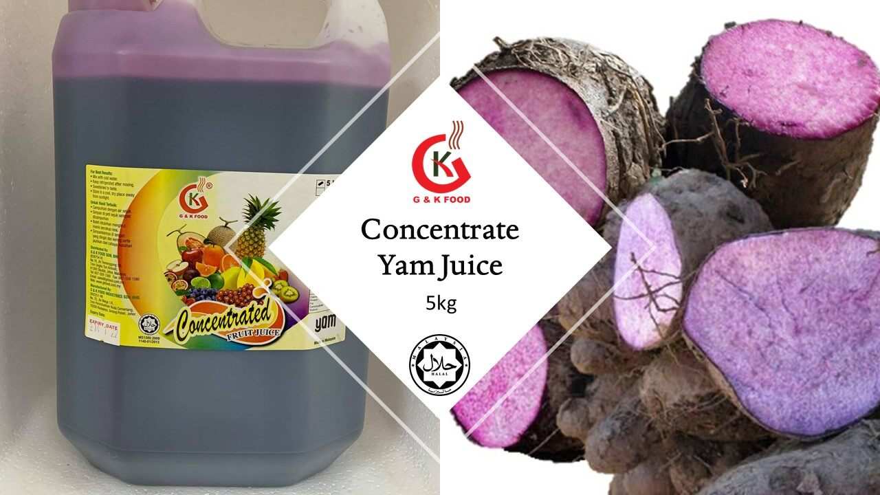 [100% JAKIM HALAL] 5kg Concentrate Yam Syrup/ Yam Milk Shakes/ Yam Ice Blended/ Stock Cukup!!!