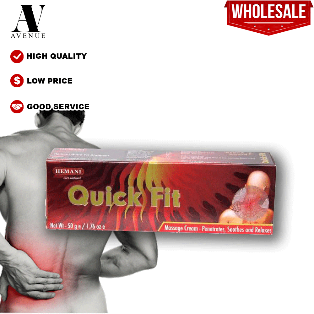 Hemani Quick Fit Massage Cream ( Back Pain ) - Pentrates, Soothes and Relaxes 50g