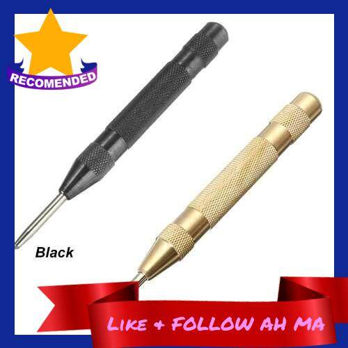 Best Selling Automatic Center Pin Punch Strike Spring Loaded Marking Starting Holes Tool (Black)