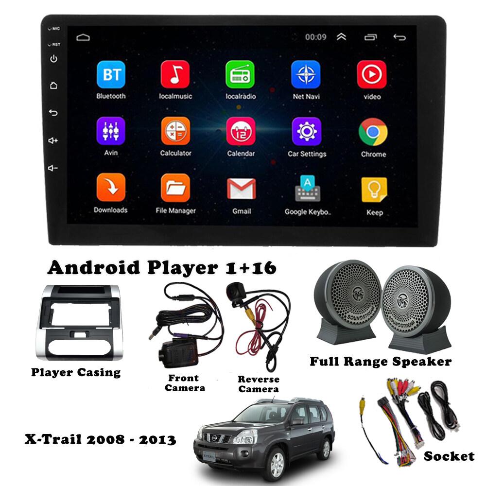 Full Set Android Player Package for Nissan (1+16GB Player + Casing + Socket + Front & Reverse Cam + Full Range Speaker Set)