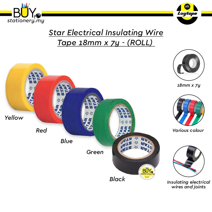 Star Electrical Insulating Wire Tape 18mm x 7y - (ROLL)