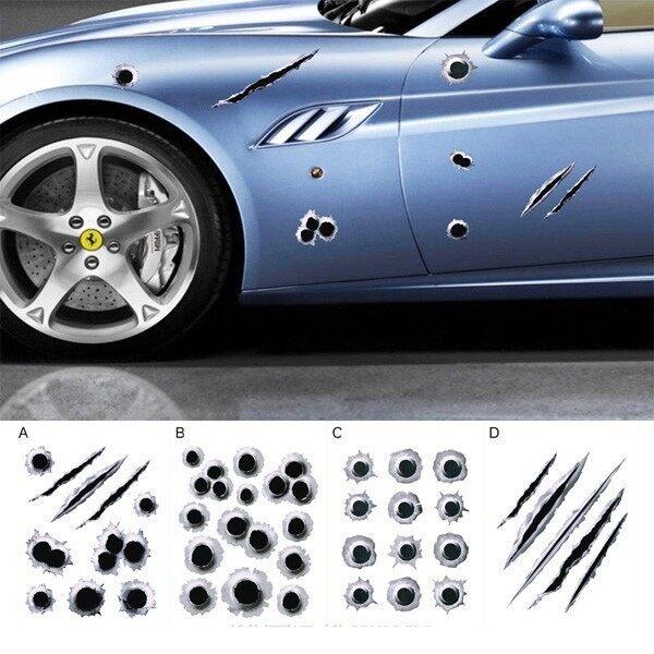 Car Stickers - Car Sticker Scratch Decal Waterproof Motorcycle Stickers_Ap - D / C / B / A