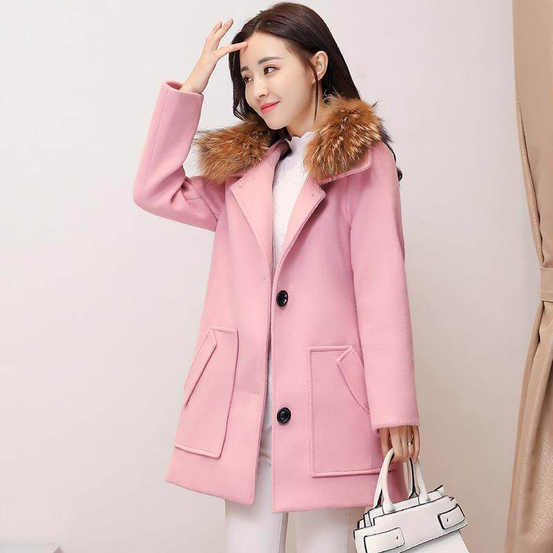 (Pre Order14 Days JYS Fashion Korean Style Women Winter CoatCollection522-435col522-435--Pink-M