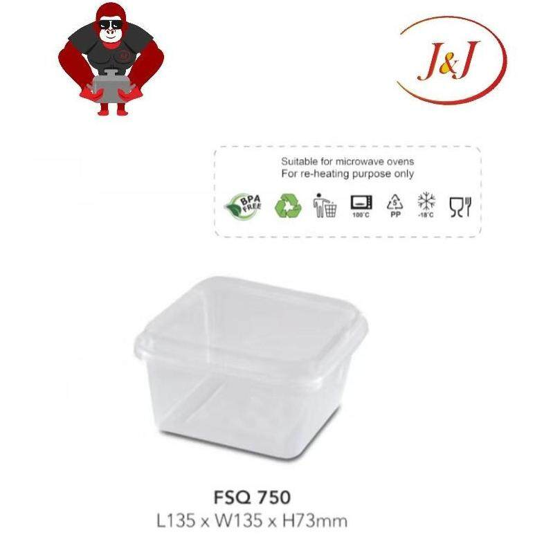 1 PKT - 50's FSQ 650 Microwavable Square Container