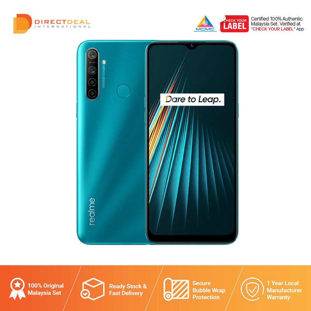 Realme 5i 4GB+64GB Smartphone 1 Year Warranty By Realme (MY SET)