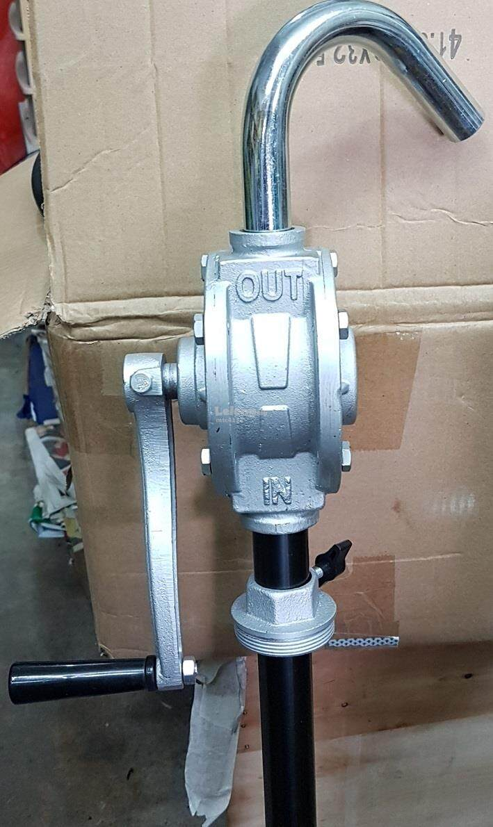 manual hand rotary oil outer out extract extractor gear pump machine air compressor press pressure high low filter hose tube roll roller rolling handle up flow wheel motor in water